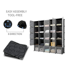 Load image into Gallery viewer, Top kousi cube organizer storage cubes organizers and storage storage cube cube storage shelves cubby shelving storage cabinet toy organizer cabinet black 25 cubes