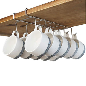 Great bafvt coffee mug holder 304 stainless steel cup rack under cabinet 10hooks fit for the cabinet 0 8 or less