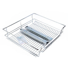 Load image into Gallery viewer, Explore gototop kitchen sliding cabinet organizer pull out chrome wire storage basket drawer for kitchen cabinets cupboards 20 3 17 35 3