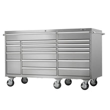 Load image into Gallery viewer, Shop viper tool storage vp7218ss pro 72 inch 18 drawer 304 stainless steel rolling cabinet
