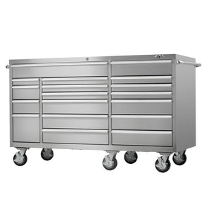 Shop viper tool storage vp7218ss pro 72 inch 18 drawer 304 stainless steel rolling cabinet