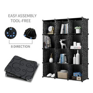 Budget kousi cube organizer storage cubes organizers and storage storage cube cube storage shelves cubby shelving storage cabinet toy organizer cabinet black 30 cubes