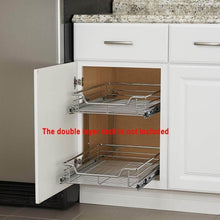 Load image into Gallery viewer, Shop for evergohome roll out kitchen cabinet organizer adjustable chrome pull out cabinet organizer heavy duty side mount single sliding shelf suitable for 20 inches wide kitchen cabinet external