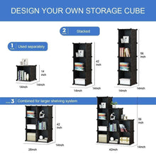Load image into Gallery viewer, The best kousi cube organizer storage cubes organizers and storage storage cube cube storage shelves cubby shelving storage cabinet toy organizer cabinet black 25 cubes