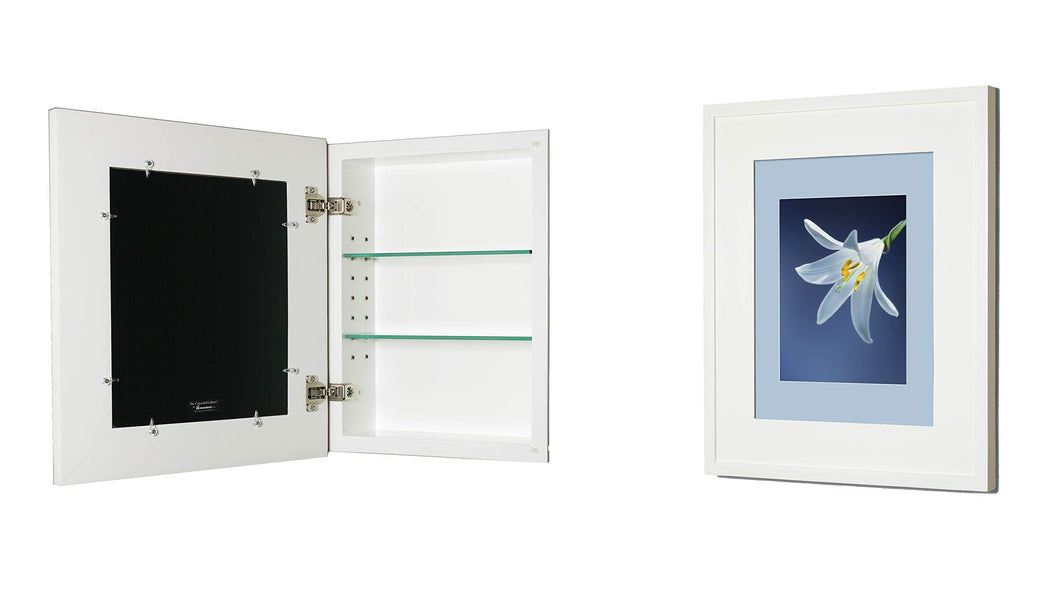 Buy now 13x16 white concealed cabinet regular a recessed mirrorless medicine cabinet with a picture frame door available in multiple colors styles