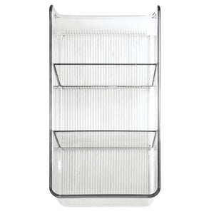 Cheap mdesign divided plastic home office desk drawer organizer storage bin for cabinets closets drawers desktops tables workspaces holds pens pencils erasers markers 3 sections 4 pack clear
