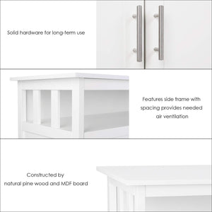 Shop for homfa kitchen sideboard storage cabinet large dining buffet server cupboard cabinet console table with display shelf and double doors white