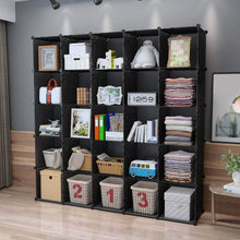 Load image into Gallery viewer, Amazon kousi cube organizer storage cubes organizers and storage storage cube cube storage shelves cubby shelving storage cabinet toy organizer cabinet black 25 cubes