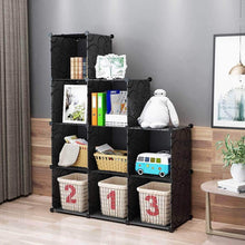 Load image into Gallery viewer, Try kousi cube organizer storage cubes organizers and storage storage cube cube storage shelves cubby shelving storage cabinet toy organizer cabinet black 25 cubes