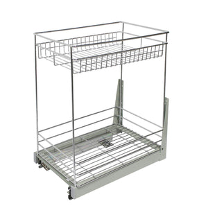 Great 17 3x11 8x20 7 cabinet pull out chrome wire basket organizer 2 tier cabinet spice rack shelves bowl pan pots holder full pullout set