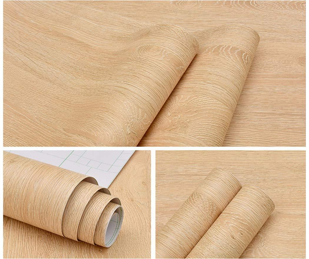 Budget friendly glow4u self adhesive faux light wood vinyl contact paper kitchen cabinets shelves drawer cupboards table desk arts crafts decal 15 7 x117 inches