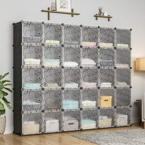 Buy now kousi cube organizer storage cubes organizers and storage storage cube cube storage shelves cubby shelving storage cabinet toy organizer cabinet black 30 cubes