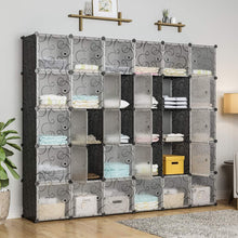 Load image into Gallery viewer, Buy kousi cube organizer storage cubes organizers and storage storage cube cube storage shelves cubby shelving storage cabinet toy organizer cabinet black 30 cubes