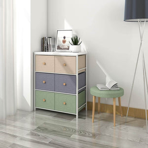Try lifewit small storage drawer unit with metal frame for children small clothes organizer with wooden tabletop for livingroom bedroom cabinet with 6 easy pull fabric drawers 3 tier