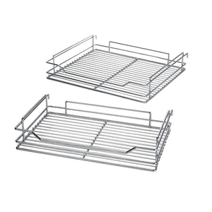 Shop here 34 6x21 3x8 3 in under cabinet pull out chrome 4 tier wire basket organizer cabinet dish rack shelves bowl utensils holder full pullout set gray bottom