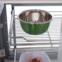 Load image into Gallery viewer, Shop for 34 6x21 3x8 3 in under cabinet pull out chrome 4 tier wire basket organizer cabinet dish rack shelves bowl utensils holder full pullout set gray bottom