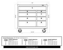 Load image into Gallery viewer, Purchase viper tool storage v412409ssr 41 9 drawer rolling cabinet 41 x 24 stainless steel