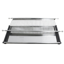 Load image into Gallery viewer, New gobrico stainless steel 2 tier dish drying rack for width 800mm cabinet plate bowl storage organizer holder