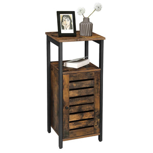 Shop vasagle industrial bathroom storage cabinet end table storage floor cabinet with shelf multifunctional in living room bedroom hallway rustic brown ulsc34bx