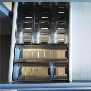Budget friendly drawer insert cabinet cutlery tray storage catering utensils box stainless steel kitchen 6 compartments 47 228 46 2cm