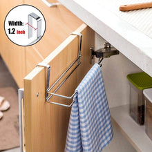 Load image into Gallery viewer, Organize with paper towel holder aiduy hanging paper towel holder under cabinet paper towel rack hanger over the door kitchen roll holder stainless steel