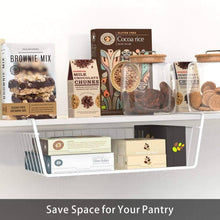 Load image into Gallery viewer, Select nice under shelf basket ace teah 4 pack under shelf rack wire rack under shelf storage organizer saving spaces for pantry cabinet closet white