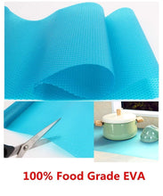 Load image into Gallery viewer, Save on hitytech shelf liner eva shelf liners can be cut refrigerator mats fridge cushion liner non adhesive cupboard liners non slip cabinet drawer table liners 59 x 17 3 4 in blue