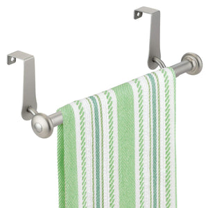 Buy mdesign vintage metal decorative kitchen sink over cabinet steel metal towel bars storage and organization drying rack for hanging hand dish tea towels 10 5 wide pack of 2 satin