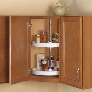 Budget knape vogt pfn20st w 31 5 by 20 by 20 full round polymer lazy susan cabinet organizer