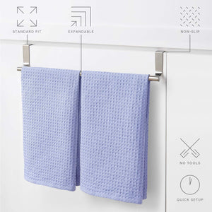 Budget youcopia over the cabinet door expandable towel bar stainless steel