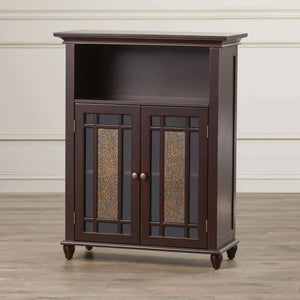 Amazon alcott hill two door bathroom storage floor cabinet home wooden cabinet floor storage furniture bathroom laundry open shelves cabinet with glass doors organizer dark espresso