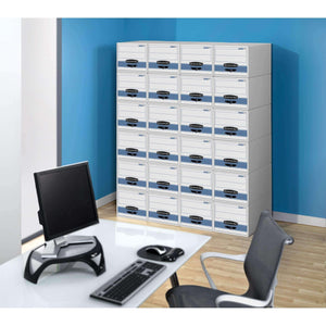 The best bankers box stor drawer steel plus extra space saving filing cabinet stacks up to 5 high legal 6 pack 00312
