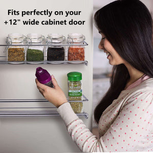 Online shopping gorgeous spice rack organizer for cabinets or wall mounts space saving set of 4 hanging racks perfect seasoning organizer for your kitchen cabinet cupboard or pantry door