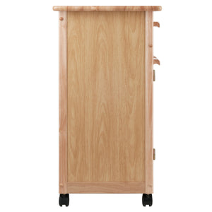 Buy winsome wood single drawer kitchen cabinet storage cart natural