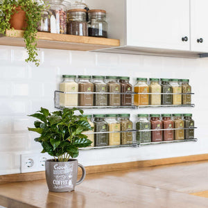 Products gorgeous spice rack organizer for cabinets or wall mounts space saving set of 4 hanging racks perfect seasoning organizer for your kitchen cabinet cupboard or pantry door