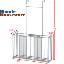 Load image into Gallery viewer, Amazon best simple houseware shw over cabinet door organizer mesh silver