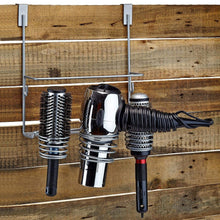 Load image into Gallery viewer, Select nice home intuition hair styling station organizer over the cabinet door silver