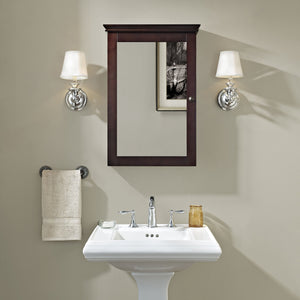 Get crosley furniture lydia mirrored bathroom wall cabinet espresso