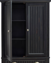 Load image into Gallery viewer, Shop here crosley furniture seaside kitchen pantry cabinet distressed black