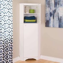 Load image into Gallery viewer, Try prepac wscc 0605 1 elite home corner storage cabinet tall 2 door white