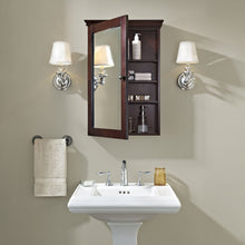 Load image into Gallery viewer, Featured crosley furniture lydia mirrored bathroom wall cabinet espresso