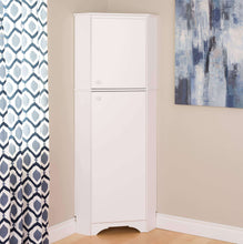 Load image into Gallery viewer, Amazon best prepac wscc 0605 1 elite home corner storage cabinet tall 2 door white