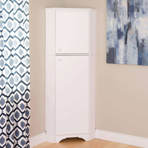 Amazon best prepac wscc 0605 1 elite home corner storage cabinet tall 2 door white