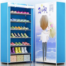 Load image into Gallery viewer, 3D painting 8-layer 7-grid Shoe rack  Non-woven fabrics large shoe cabinet organizer removable shoe storage for home furniture