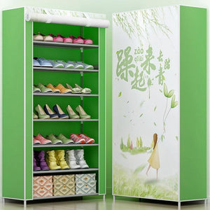 3D painting 8-layer 7-grid Shoe rack  Non-woven fabrics large shoe cabinet organizer removable shoe storage for home furniture