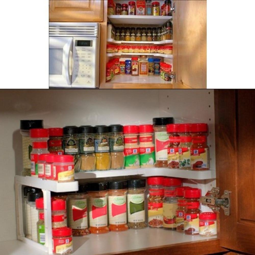 Adjustable Spice Rack 2 Layers