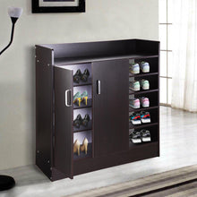Load image into Gallery viewer, Yescom 18 Pairs Double Door Shoes Cabinet Organizer Color Options