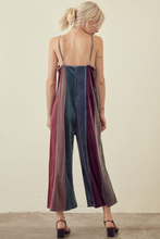 Load image into Gallery viewer, Stripe Velour Jumpsuit