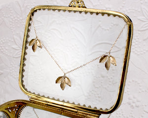 Sprig Trio Leaf Necklace