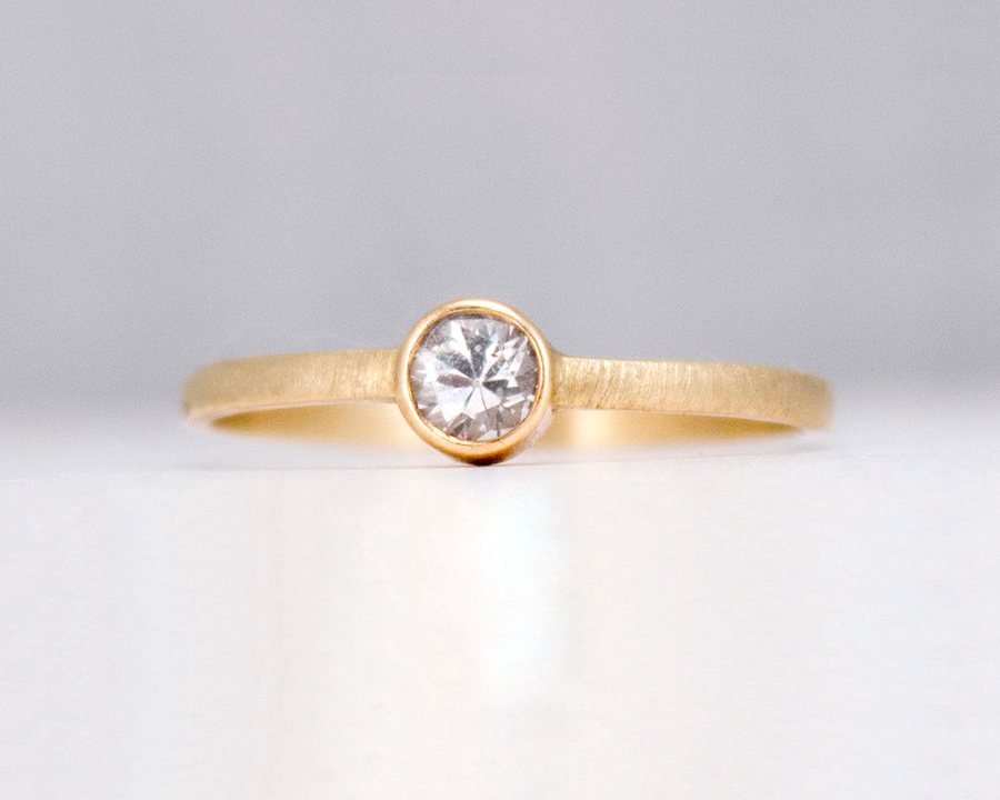 14k gold bezel ring